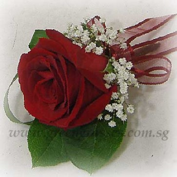 CG01012-Buttonhole Corsage-1 Red Rose
