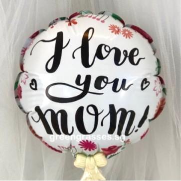 AL00519-14cm I Love You Mom Balloon