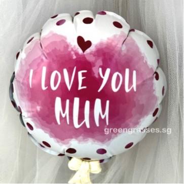 AL00520-14cm I Love You Mum Balloon