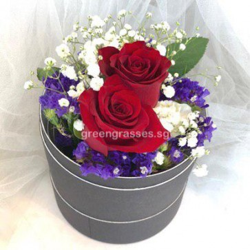 BX04066-RDB-2 Red Roses in Box