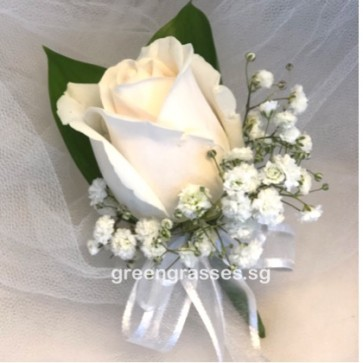 CG01241-Corsage-1-Cr/Wh Rose w/BB