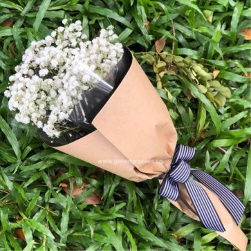 HB05065-KW-Wh BB Baby's Breath hand bouquet