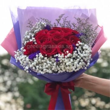 HB08316-LGLSW-11 Red Rose