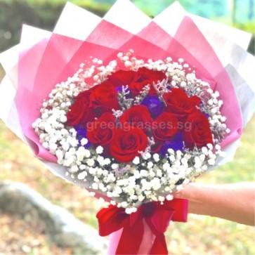 HB08555-ORW-12 Red Rose