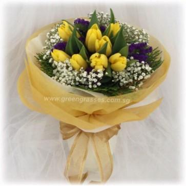 HB09059D-ORW-10 Yellow Tulip