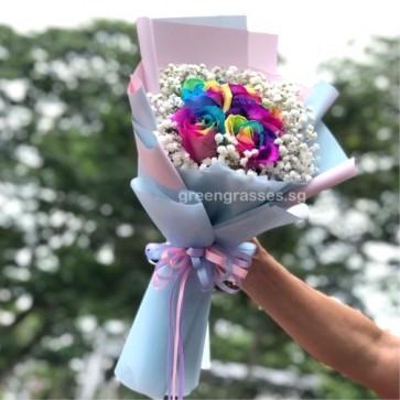 HB09720-GLSW-5 Rainbow Rose