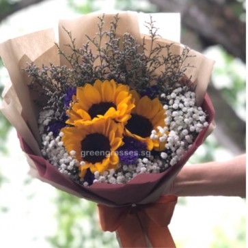 SCHB050454-Self Collect-GLSW-3 Sunflower