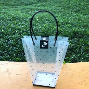 TB00380-Transparent Floral Bag S size