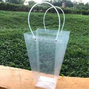 TB00382-Transparent Floral Bag L size