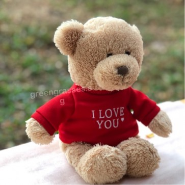 "VAB02056-9"" I Lv U Red Tee Bear"