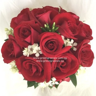 WB10823-ROM-18 Red Roses-(Bridal)(Wedding)