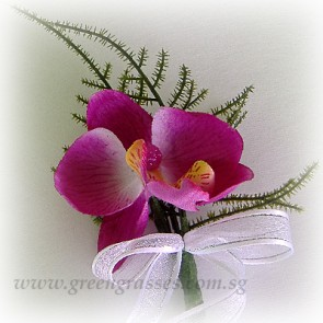 CG00602-Artificial Buttonhole Corsage-1 Orchid