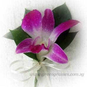 CG00606-Buttonhole Corsage-1 Bon Orchid Plain