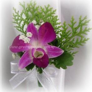 CG00860-Corsage-1 Bon Orchid w/F
