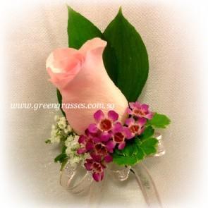 CG01042-Corsage-1 Pk Rose w/F