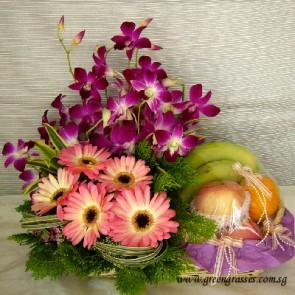FG06008-Floral Fruit Basket