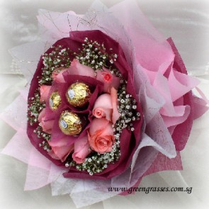 HB07513-LLGRW-3 Ferrero Rocher Chocolate +9 Pk Rose