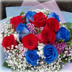 HB12026-LGRW-12-Rose(Red+Ecuador Blue)