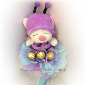 SR05029-PW-3 Rocher Chocolates w/Purple Bee