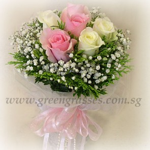 WB07620(Bridal)-ROM-Wedding-6 Rose(Pk+Wh)
