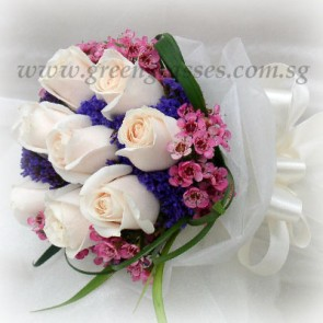 WB08428D(Bridal)-ROM-Wedding-9 Wh Rose