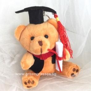 """AB006905-4"""" Dk Brown Graduate Bear"""