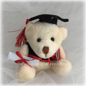 "AB00693-4"" Wh Graduation Bear"