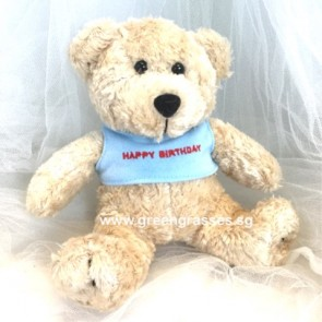 "AB009911-6.5"" Beige Birthday Bear"