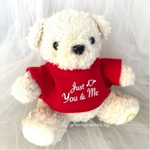 "AB010908-7"" Just U & Me Red-T Bear"