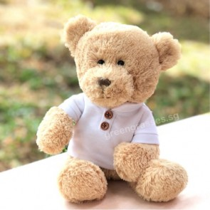 """AB01555-9"""" Wh Tee Bear"""