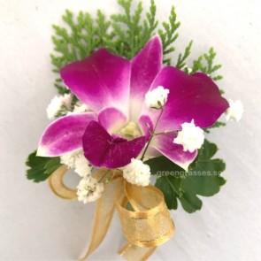 CG00860-Buttonhole Corsage-1 Bon Orchid w/F