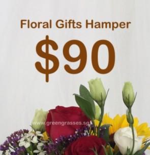 FG090098 Floral Gifts Hamper