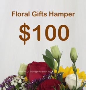 FG100098 Floral Gifts Hamper