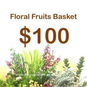 FG100099 Floral Fruits Basket