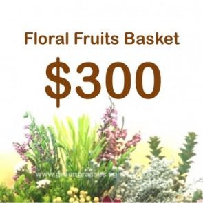 FG300099 Floral Fruits With Health Food Basket