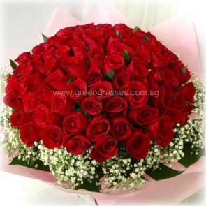 GHB21538D-LGRW-99 India Red Rose