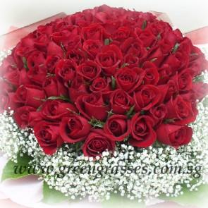 GHB30041-LGRW-108 Red Rose