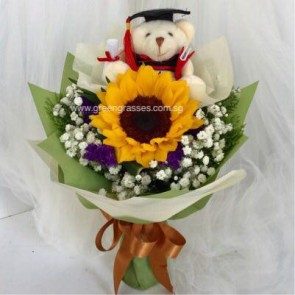 "GRHB05818-GLSW-1 Sunflower w/4"" Graduate Bear"