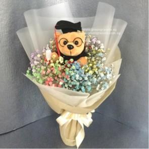 GRHB06511-KW-Rainbow BB+6 inch Graduate Bear