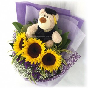"GRHB09213-GLSW-3 Sunflower w/9"" Graduate Bear"