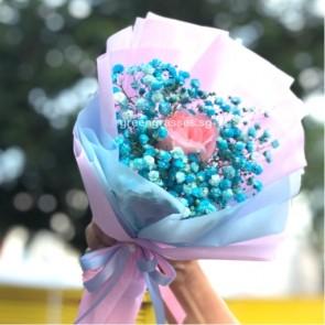 HB04002-SW-1 Pk Rose w/Blue BB
