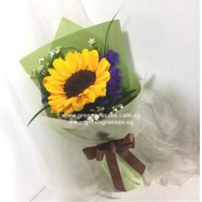 HB04017-SW2F-1 Sunflower hand bouquet