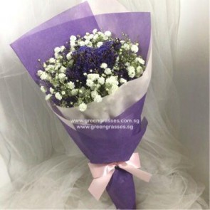 HB05033-KW-BB+Purple Statice hand bouquet