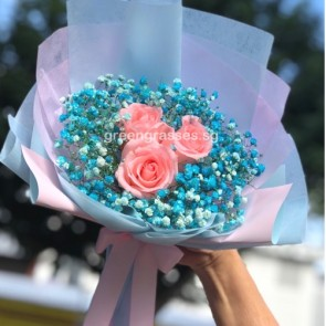 HB05558-SW-3 Pk Rose w/Blue BB