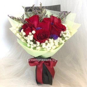 HB06059-GLSW-6 Red Rose