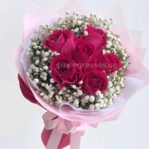 HB06530-LLGRW-6 Hot Pk Rose