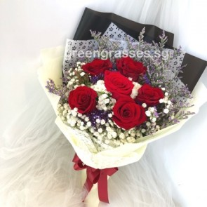 HB06574-ORSW-6 Red Rose