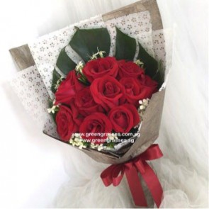 HB06805-GLSW-9 Red Rose