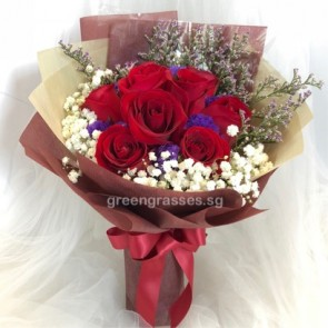 HB06814-GLSW-9 Red Rose
