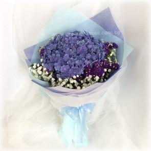 HB07035-LSW-1 Purple Hydrangea
